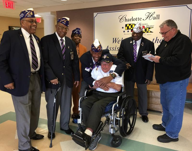 Resident and Purple Heart Chapter Donate to Veterans