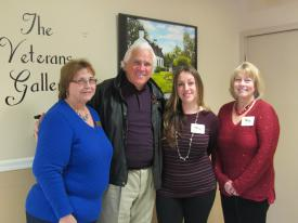 Senator Mike Miller with Maryland Department of Veterans Affairs staff Dinah Sigmon (left), Melissa Canada (middle), and Director Sharon Mattia (right)